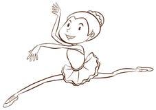 A plain sketch of a ballet dancer Royalty Free Stock Photo