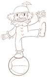 A plain sketch of a clown Royalty Free Stock Photo