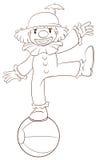 A plain sketch of a clown Royalty Free Stock Photo