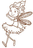A plain sketch of a fairy Royalty Free Stock Image