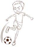 A plain sketch of a soccer player Stock Photos