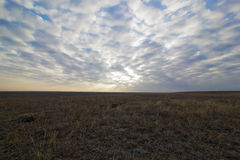 Plain and the sky. A landscape. Royalty Free Stock Photography