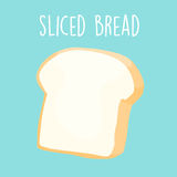 Plain sliced bread  illustration Royalty Free Stock Photography