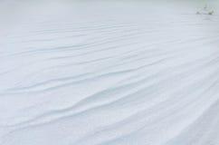 A plain snowbound field Stock Photo
