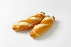 Plain soft long white rolls Royalty Free Stock Images