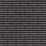 Plain solid black brick wall Royalty Free Stock Photography