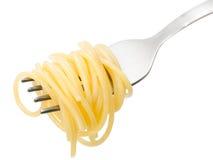 Plain Spaghetti on a fork Stock Photography