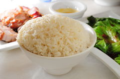 Plain steam rice Royalty Free Stock Photo