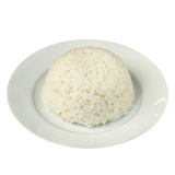 Plain Steamed Jasmine Rice isolated on White Royalty Free Stock Photography