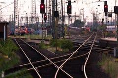Free Plain Steel Train Tracks Switch Stock Photo - 104199380