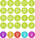 Plain stickers icon set: Business Stock Image
