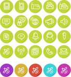 Plain stickers icon set: Communications Royalty Free Stock Photography