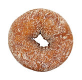 Plain sugar cake doughnut. A single cake doughnut that has been sugared on a white background royalty free stock photography