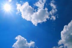 Plain sunlight and blue sky Stock Photos