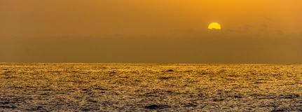 Plain sunset. A plain empty sunset taken of the south coast of Madeira stock images