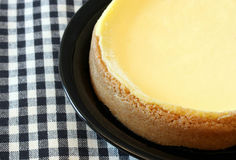 Plain Top Cheesecake Royalty Free Stock Photos