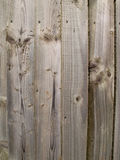 Plain unpainted wooden fence panel Royalty Free Stock Image