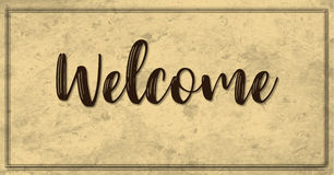 Plain Vintage Style Welcome Banner royalty free illustration