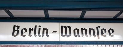 Berlin wannsee sign. A plain white berlin wannsee sign royalty free stock photos