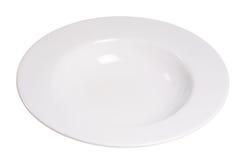 Plain White Bowl. Plain white soup bowl on a white background Stock Photos