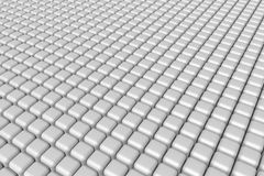 Plain white cubes background Stock Photo