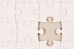 Plain White Jigsaw Puzzle 2 Royalty Free Stock Photography