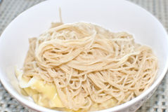 Plain white noodle (soba). With shallow depth of field Royalty Free Stock Photos