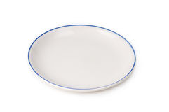 Plain white Plate Stock Photos