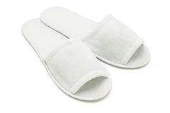 Plain white slippers Royalty Free Stock Photography