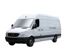 Plain white van royalty free stock image