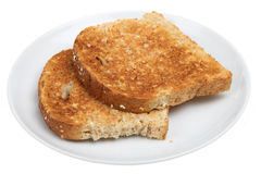 Plain Wholemeal Toast Royalty Free Stock Image