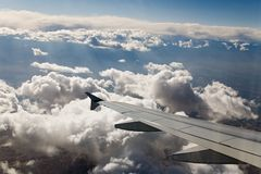 Plain wing sky Royalty Free Stock Image