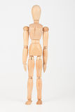 Plain wood mannequin stand upright isolated Royalty Free Stock Photos