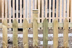 Plain wooden fence of backyards Stock Images