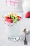Plain yogurt with fruits Royalty Free Stock Image