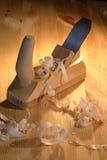 Plaina de madeira Imagens de Stock Royalty Free