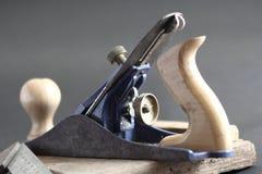 Plaina de madeira Fotos de Stock Royalty Free