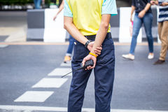 Plainclothes Police, Officer, Security guard Royalty Free Stock Photo