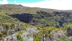 Plaine des Cafres. Mountains and nature on the Reunion Island Stock Images