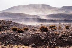 Plaine des Sables île de la Réunion. This moon landscape can be found at the Plaine des Sables, which leads to the active volcano on the island: the Piton de Stock Image