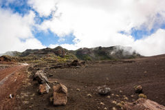 Plaine des sables of volcano Piton de la fournaire in reunion island Stock Photo