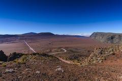 Plaine des-sobel, Ringbult de la Fournaise, Reunion Island royaltyfria foton