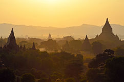 Plaines de Bagan Photos libres de droits