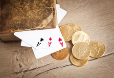 Plaing cards.Gambling and crime concept Royalty Free Stock Photo