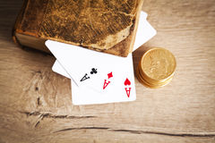 Plaing cards.Gambling and crime concept Stock Images