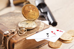 Plaing cards.Gambling and crime concept Stock Image
