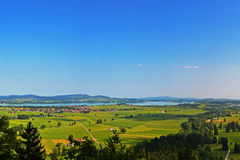 Plains below Neuschwanstein Castle Stock Photo