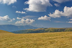 Plains and hills of Fagaras, Romania royalty free stock image