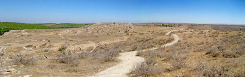 Plains of Lachish. Path going through Lachish, Israel Stock Image