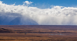 Plains in Mackenzie County near Tekapo Stock Image